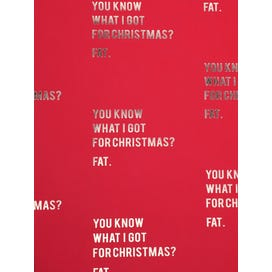 Christmas Text Red Background Flatwrap