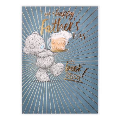 Me to You Father's Day Bear And Beer Father's Day Card