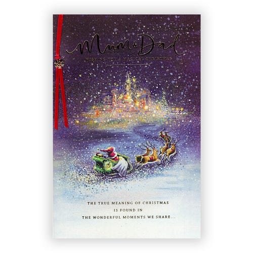 Mum & Dad Magical Christmas card