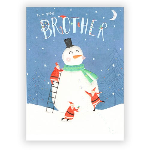 A Great Brother Christmas card