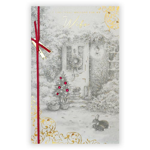 Wife A Christmas Message card