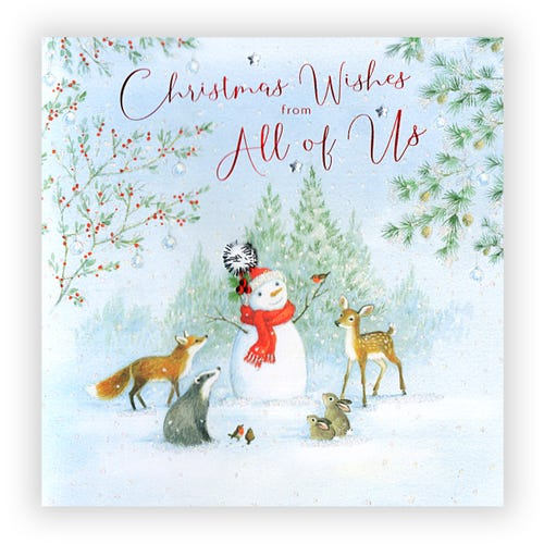 Christmas Wishes From All of Us card