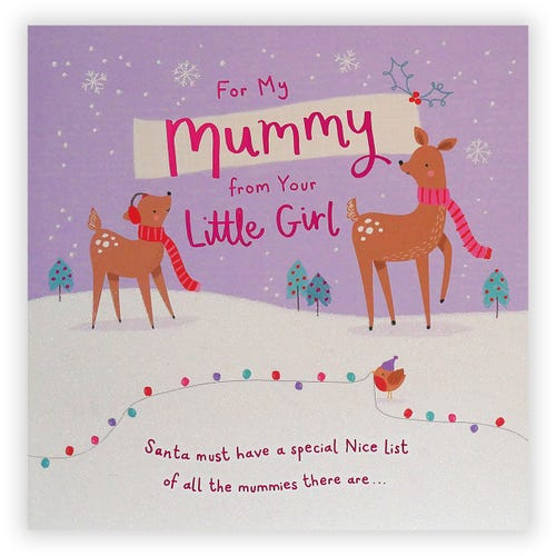 Mummy From your Little Girl Christmas card