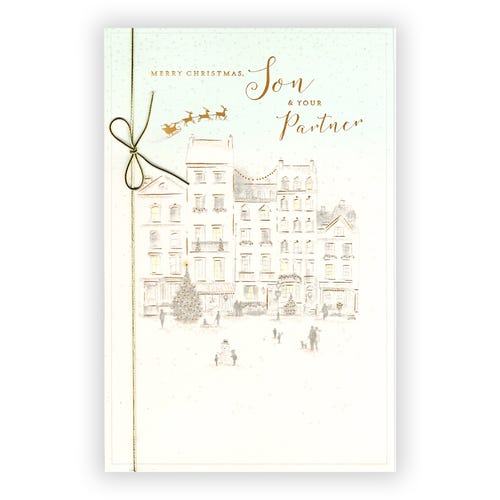 Son & Partner Merry Christmas Clintons Collection card