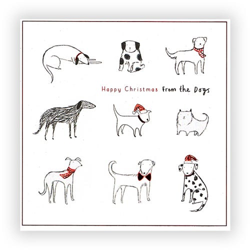 Happy Christmas from the Dogs Card