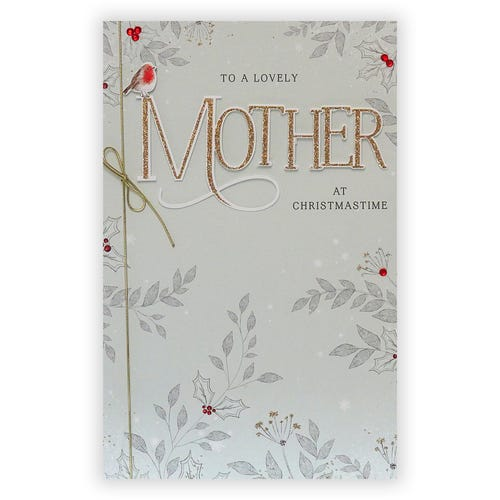 To A Lovely Mum At Christmastime card