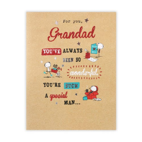 Grandad character storyboard Father's Day Card