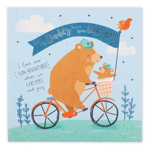 Daddy from little boy bear Father's Day Card