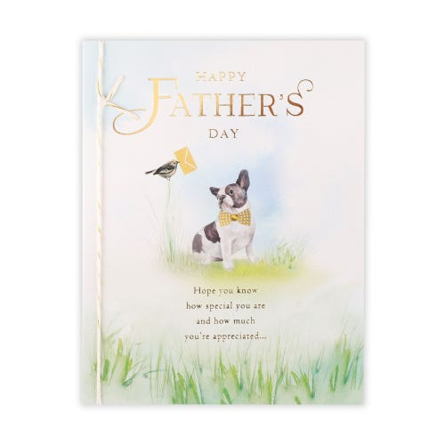 Painted dog Father's Day Card