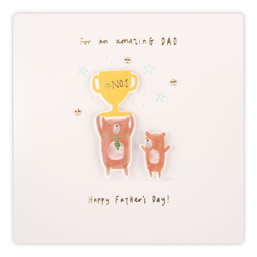 Bear trophy Father's Day Card