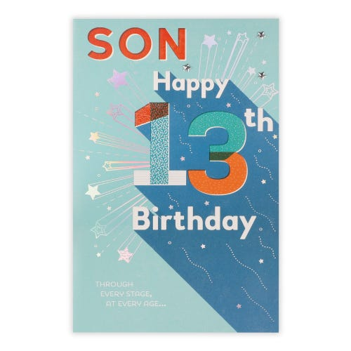 Bright Graphic Lettering Son Birthday Card
