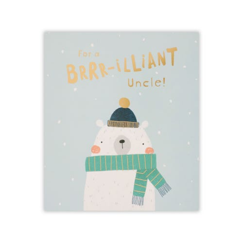 Uncle Christmas card