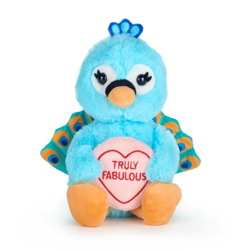 Love Hearts Peacock Truly Fab Soft Toy