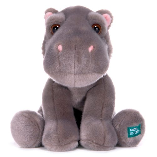 BBC Earth Babies 25cm Hippo Soft Toy