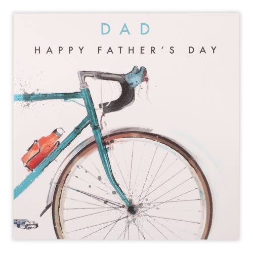 Watercolour bicycles Father's Day Card