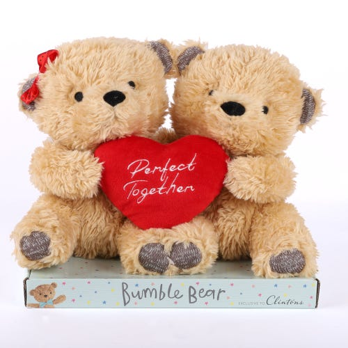 Double Bumble Bear With Heart
