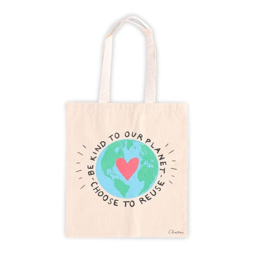 Earth Cotton Tote Bag