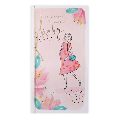 Pregnant Lady Leaving to Have Baby Card