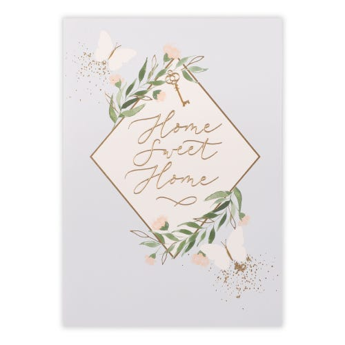 Home Sweet Home Type And Icons New Home Card
