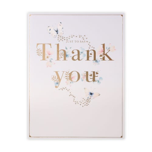 Lettering and Butterflies Thank You Card
