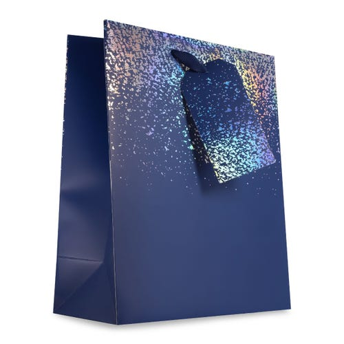 Plain Navy Holo - Large Bag