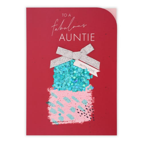 Present Stack Auntie Birthday Card