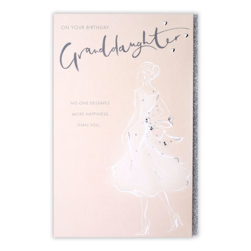 Figurative Cocktail Evening Granddaughter Birthday Card