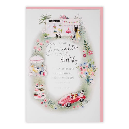 Daughter Shopping Day Daughter Birthday Card