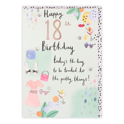 18th Birthday Pretty Things Card