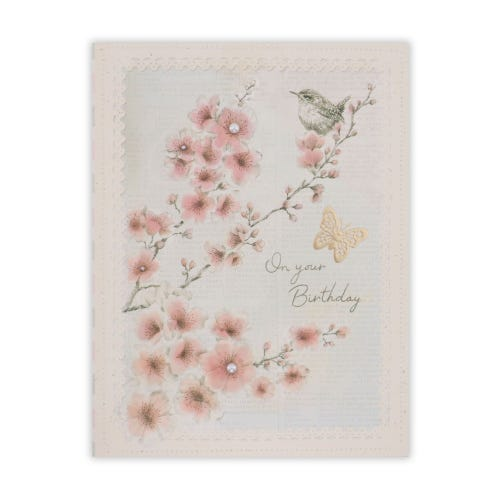 Crafted by Clintons Sepia Birds and Floral