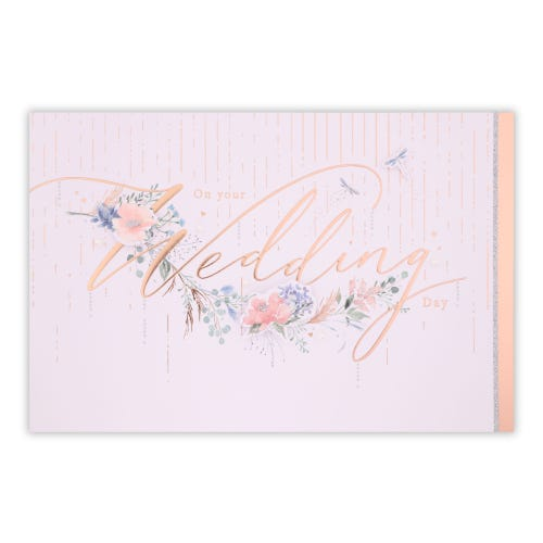 Decorative Type With Floral Wedding Card