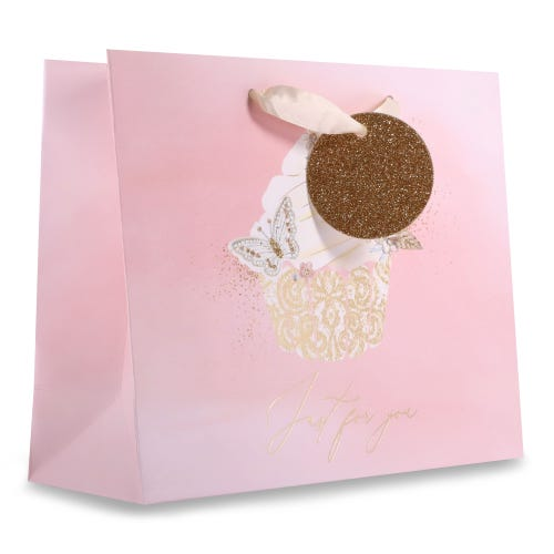 Cake / Butterfly Bling Medium Gift Bag