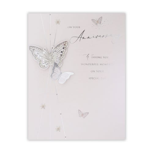 Butterflies Your Anniversary Card