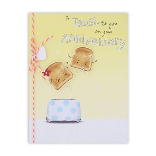 Toast Character Anniversary Card