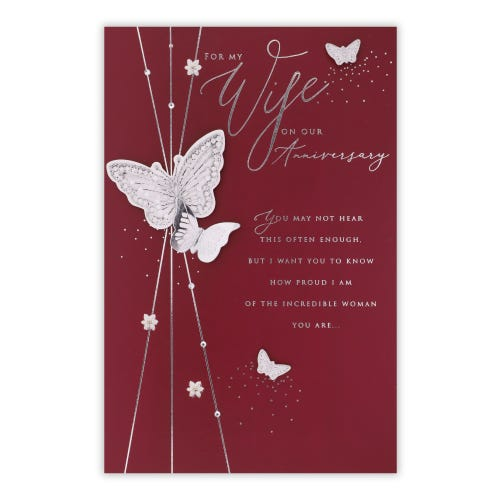 Butterfly Wife Anniversary Card