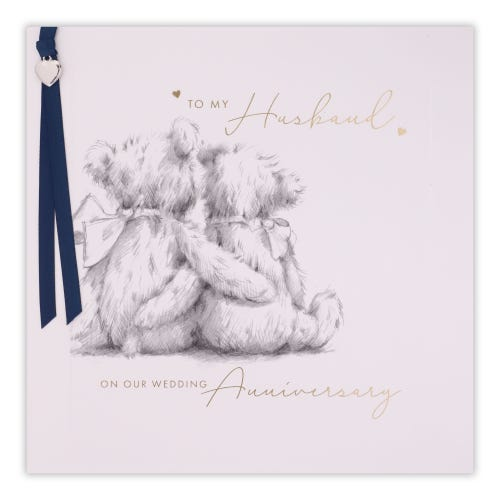 Pencil Bears Husband Anniversary Card