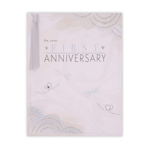 Decorative Your First Anniversary Card