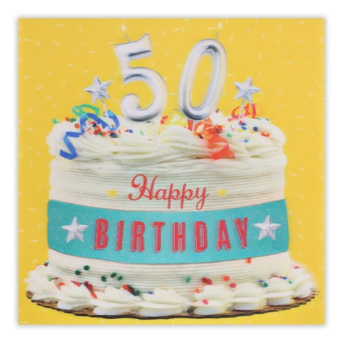 Lenticular Photographic Cake - 50TH