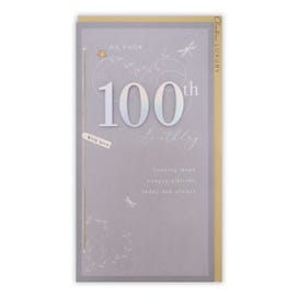 100th Birthday Decorative With Attachments Card