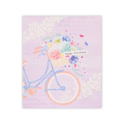 Simply Clintons Pastel Floral Bike
