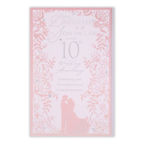 Daughter and Son-in-law 10th Anniversary Card