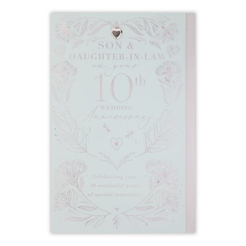 Son And Daughter-In-Law 10th Anniversary Card