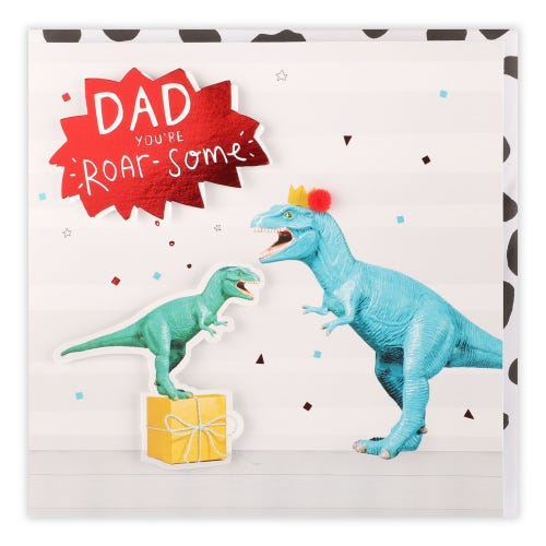 Father's Day Dinosaurs And Present Card