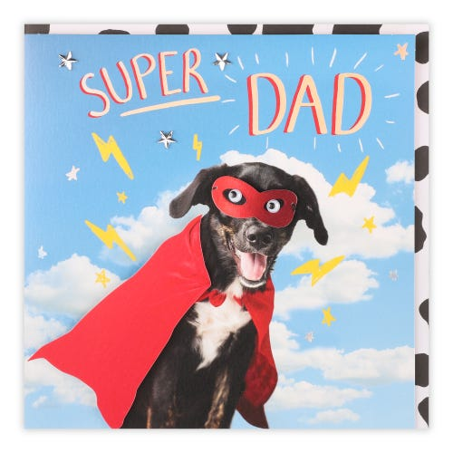 Father's Day Super Hero Dog Card