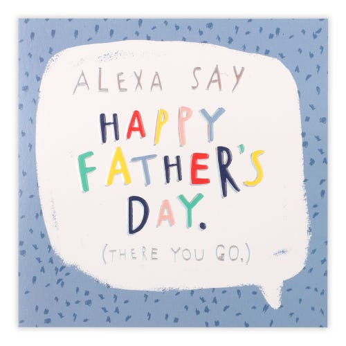 Father's Day Text In Speech Bubble Card