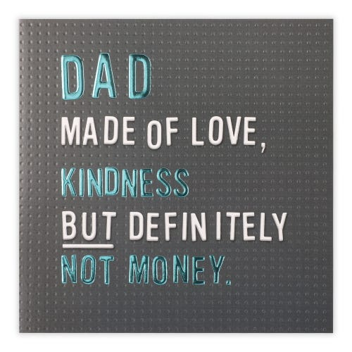 Father's Day Text On Peg Board Card
