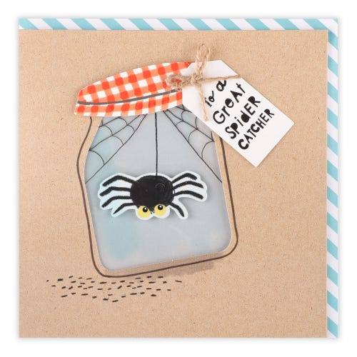 Father's Day Spider In Jar Card