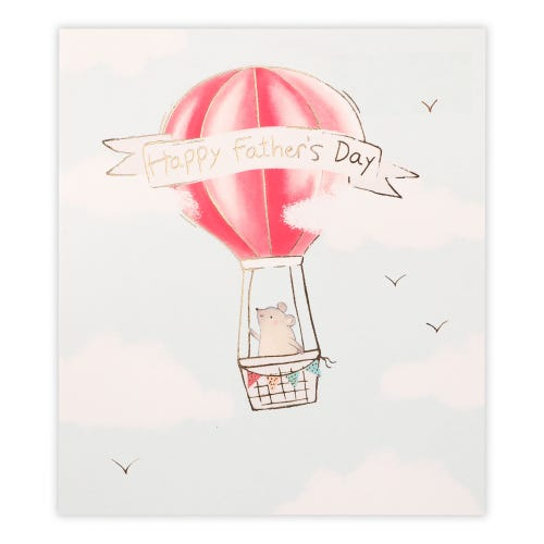 Father's Day Red Hot Air Balloon Card