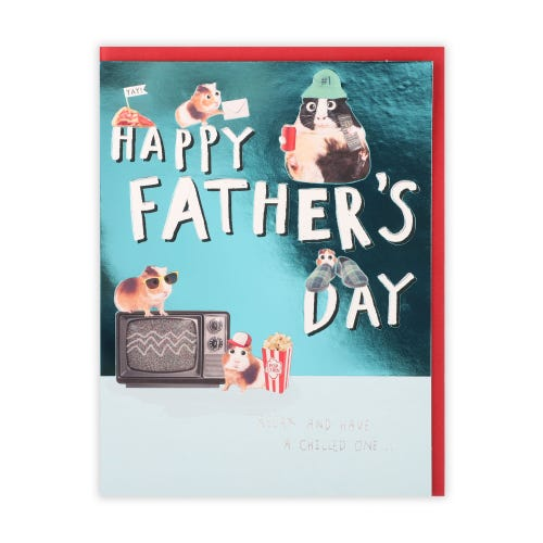 Father's Day Photographic Funny Hamsters Card