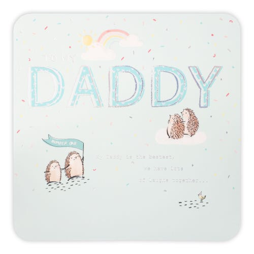 Father's Day Hedgies On Blue  Card